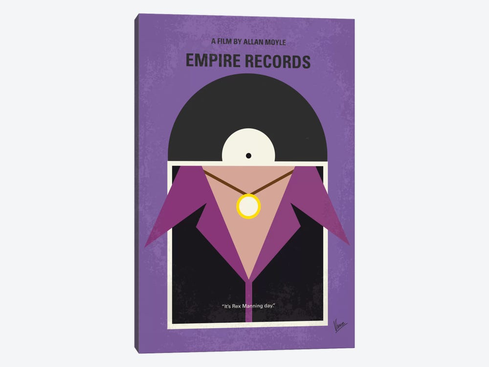 Empire Records Minimal Movie Poster by Chungkong 1-piece Canvas Art