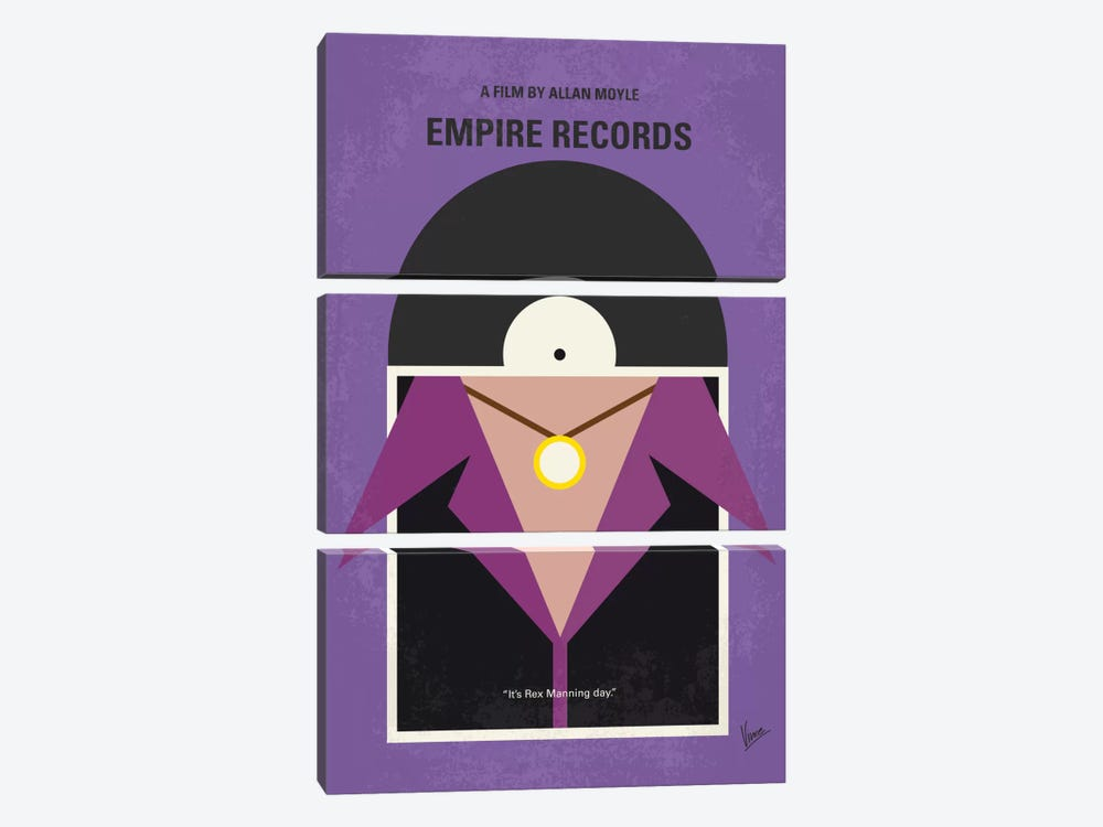 Empire Records Minimal Movie Poster by Chungkong 3-piece Canvas Art