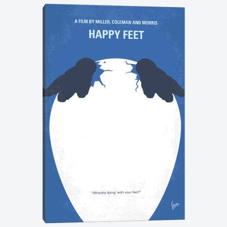 Happy Feet Minimal Movie Poster Canvas Print #CKG722} by Chungkong Canvas Art