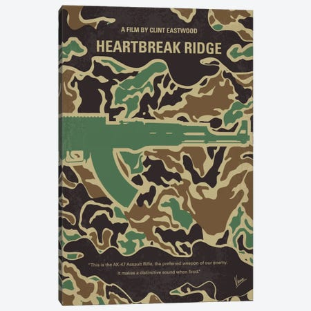 Heartbreak Ridge Minimal Movie Poster Canvas Print #CKG723} by Chungkong Canvas Artwork