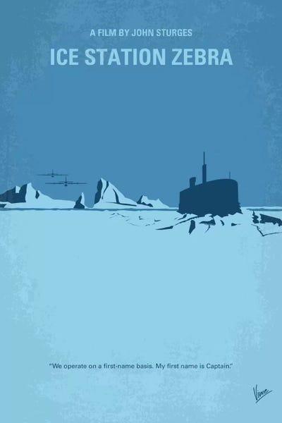 Ice Station Zebra Minimal Movie Poster Canvas Print By