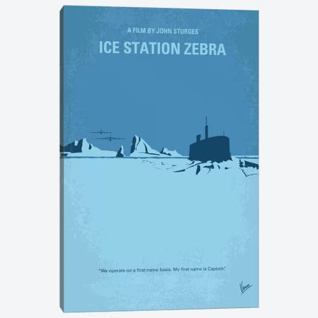 Ice Station Zebra Minimal Movie Poster Canvas Print #CKG724} by Chungkong Art Print
