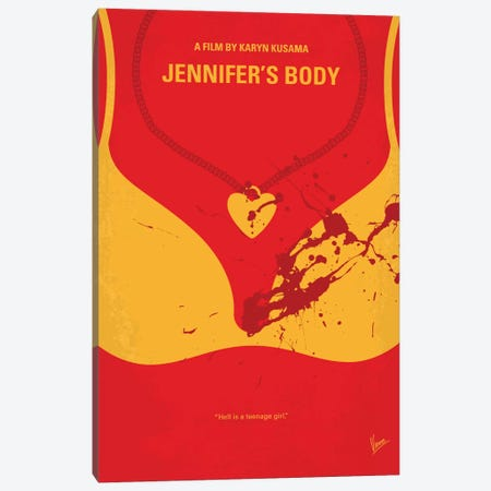 Jennifer's Body Minimal Movie Poster Canvas Print #CKG726} by Chungkong Canvas Art Print