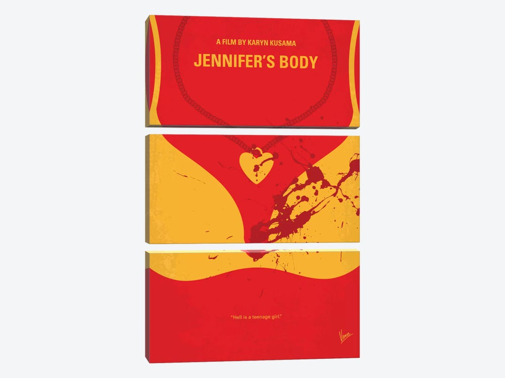 Jennifer's Body Minimal Movie Poster by Chungkong 3-piece Canvas Wall Art