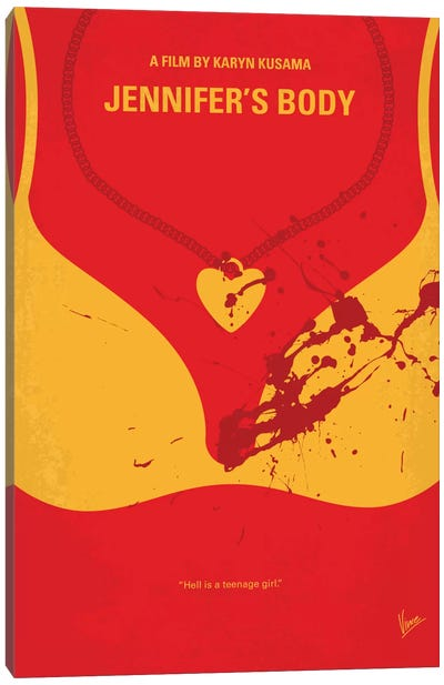Jennifer's Body Minimal Movie Poster Canvas Art Print