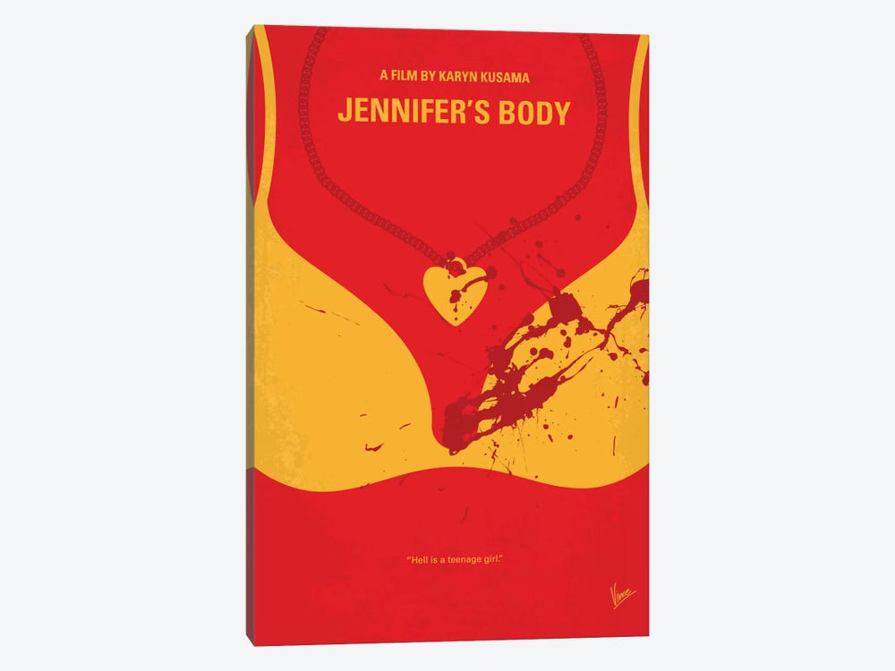 Jennifer's Body Minimal Movie Poster by Chungkong 1-piece Canvas Artwork