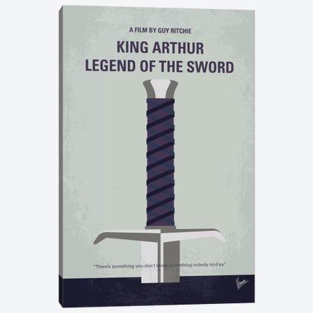 King Arthur: Legend Of The Sword Minimal Movie Poster Canvas Print #CKG727} by Chungkong Art Print