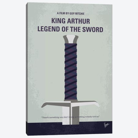 King Arthur: Legend Of The Sword Minimal Movie Poster Canvas Print #CKG727} by Chungkong Art Print