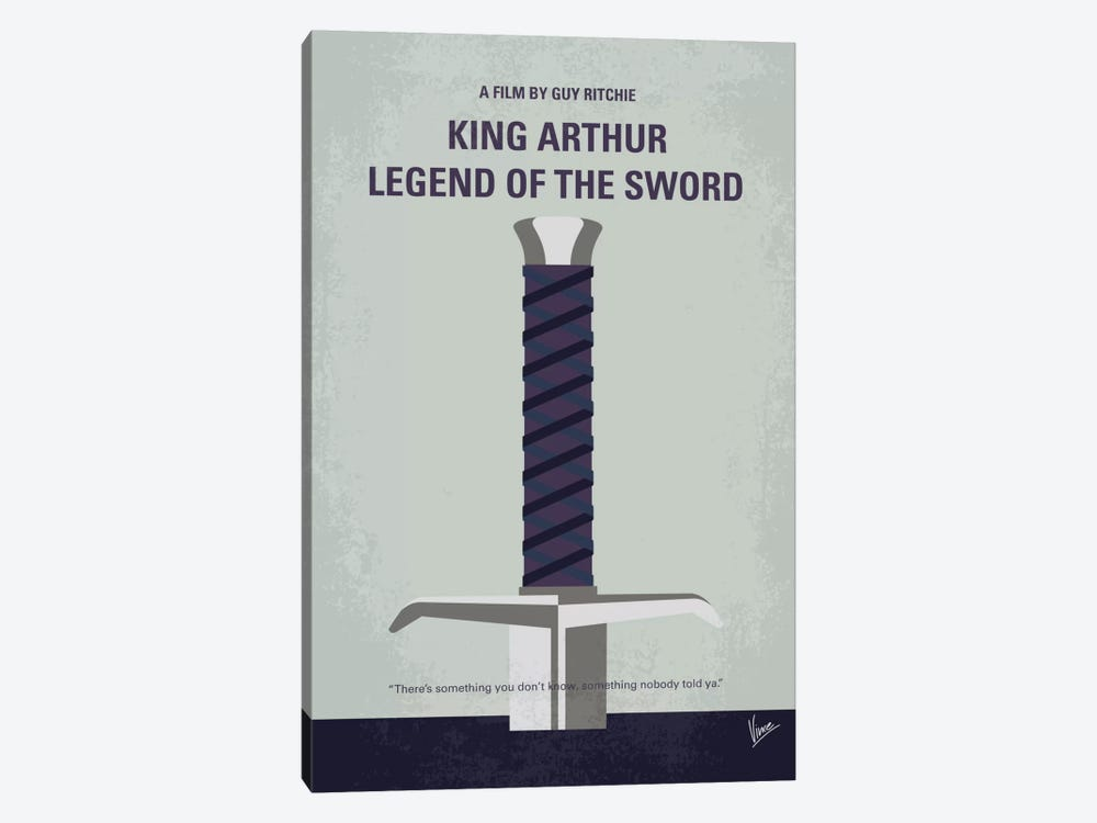 King Arthur: Legend Of The Sword Minimal Movie Poster by Chungkong 1-piece Canvas Art Print