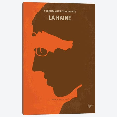 La Haine Minimal Movie Poster Canvas Print #CKG728} by Chungkong Canvas Art