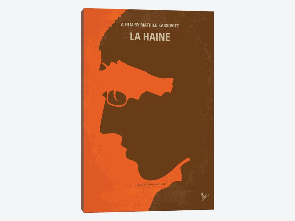 La Haine Minimal Movie Poster by Chungkong 1-piece Canvas Art