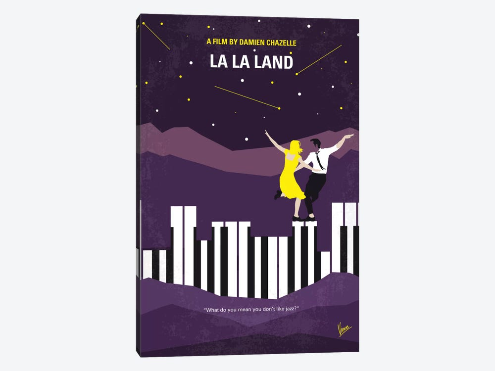 La La Land Minimal Movie Poster by Chungkong 1-piece Canvas Art Print