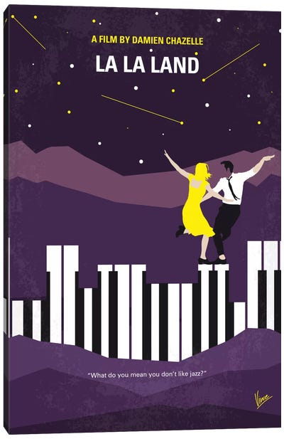 La La Land Minimal Movie Poster by Chungkong - Minimalist Movie Posters Canvas Art Print