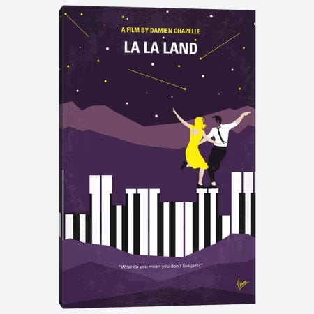 La La Land Minimal Movie Poster Canvas Print #CKG729} by Chungkong Canvas Art