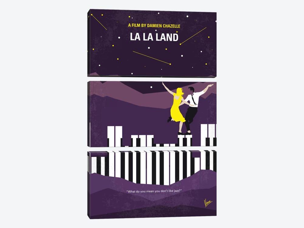 La La Land Minimal Movie Poster by Chungkong 3-piece Canvas Print