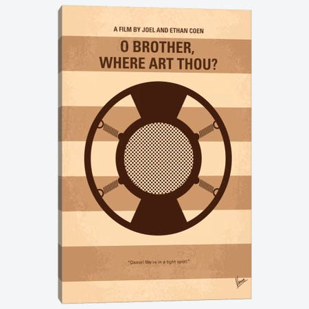 O' Brother Where Art Thou Minimal Movie Poster Canvas Print #CKG72} by Chungkong Canvas Wall Art
