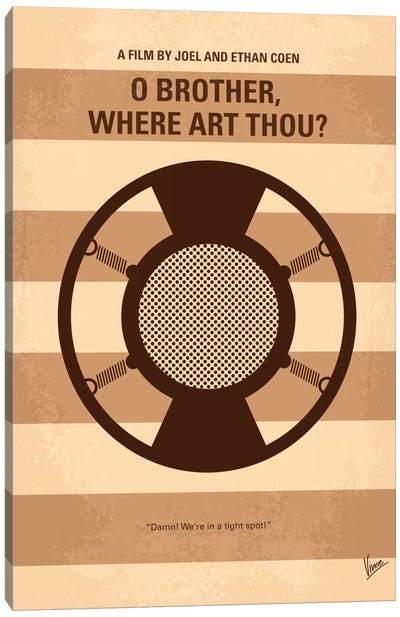 O' Brother Where Art Thou Minimal Movie Poster Canvas Art Print
