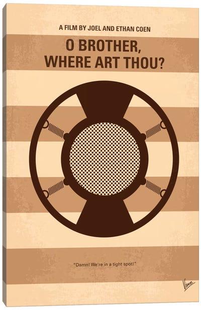 O' Brother Where Art Thou Minimal Movie Poster Canvas Art Print