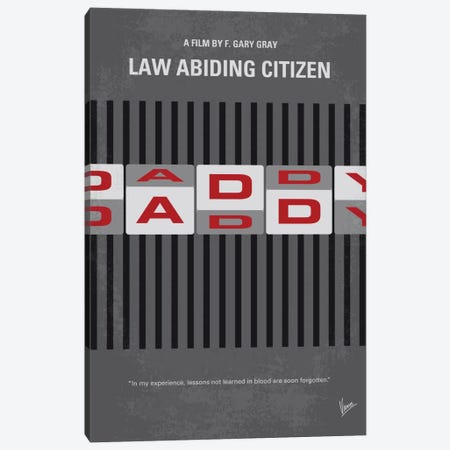 Law Abiding Citizen Minimal Movie Poster 3-Piece Canvas #CKG730} by Chungkong Canvas Print