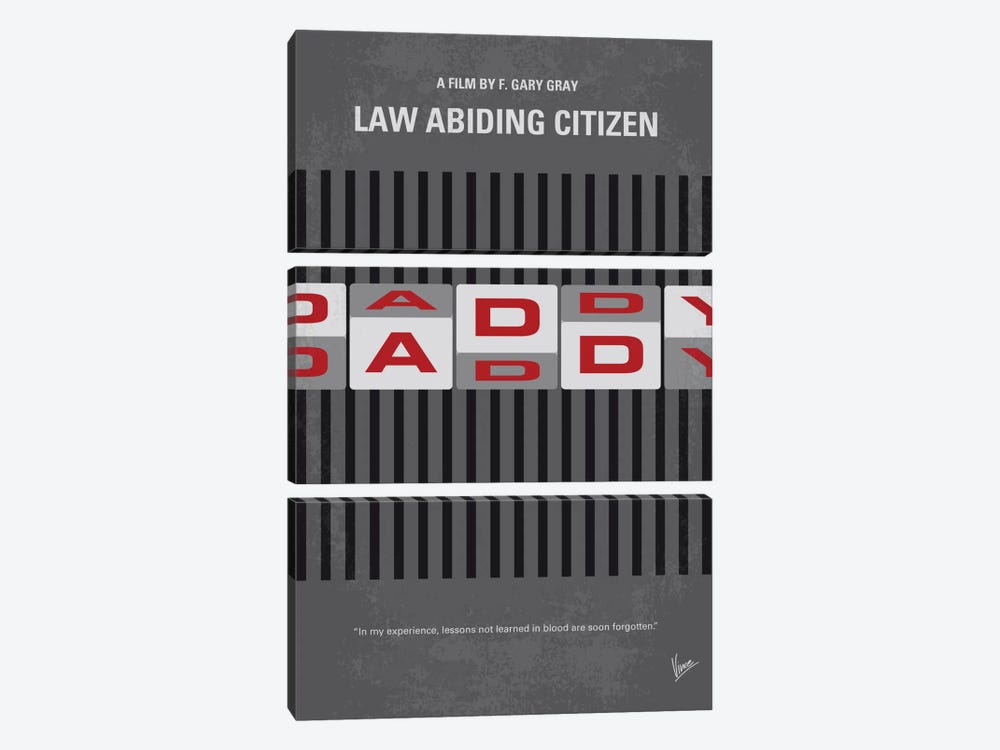Law Abiding Citizen Minimal Movie Poster by Chungkong 3-piece Art Print