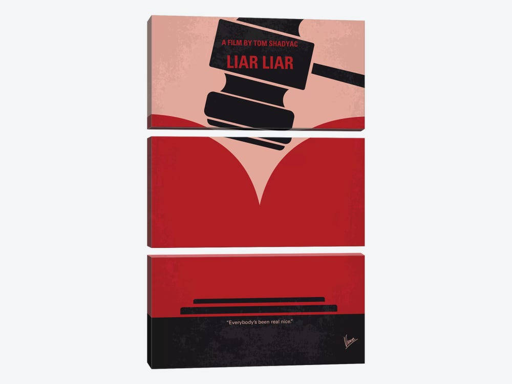 Liar Liar Minimal Movie Poster by Chungkong 3-piece Canvas Art