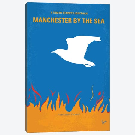 Manchester By The Sea Minimal Movie Poster Canvas Print #CKG732} by Chungkong Canvas Print