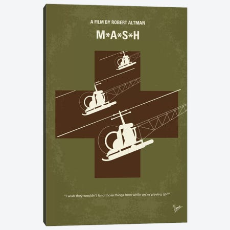 MASH Minimal Movie Poster Canvas Print #CKG733} by Chungkong Canvas Print