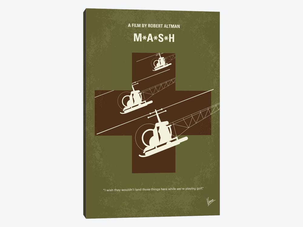 MASH Minimal Movie Poster by Chungkong 1-piece Canvas Artwork