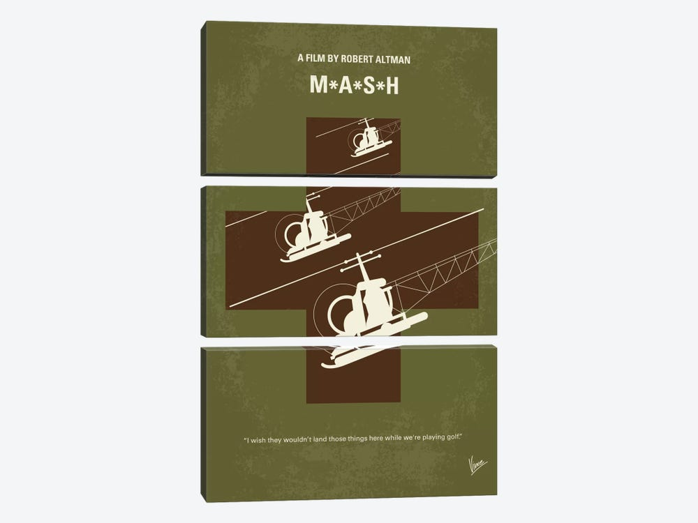 MASH Minimal Movie Poster by Chungkong 3-piece Canvas Artwork