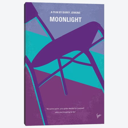 Moonlight Minimal Movie Poster Canvas Print #CKG734} by Chungkong Canvas Art