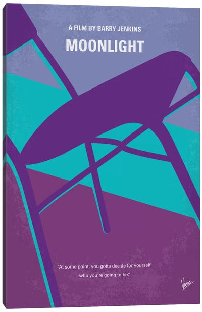 Moonlight Minimal Movie Poster Canvas Print #CKG734