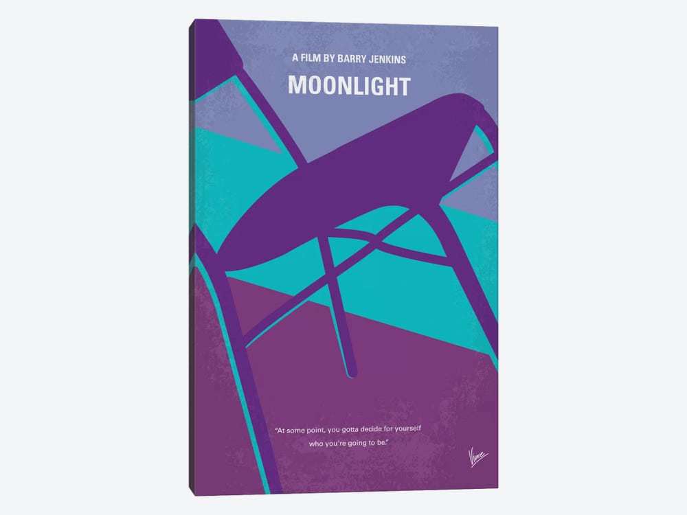 Moonlight Minimal Movie Poster by Chungkong 1-piece Art Print