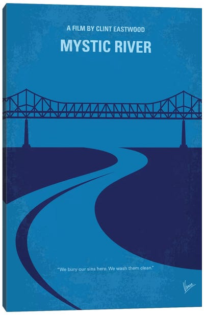 Mystic River Minimal Movie Poster Canvas Art Print