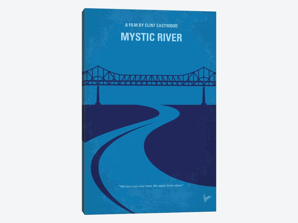 Mystic River Minimal Movie Poster by Chungkong 1-piece Canvas Art Print