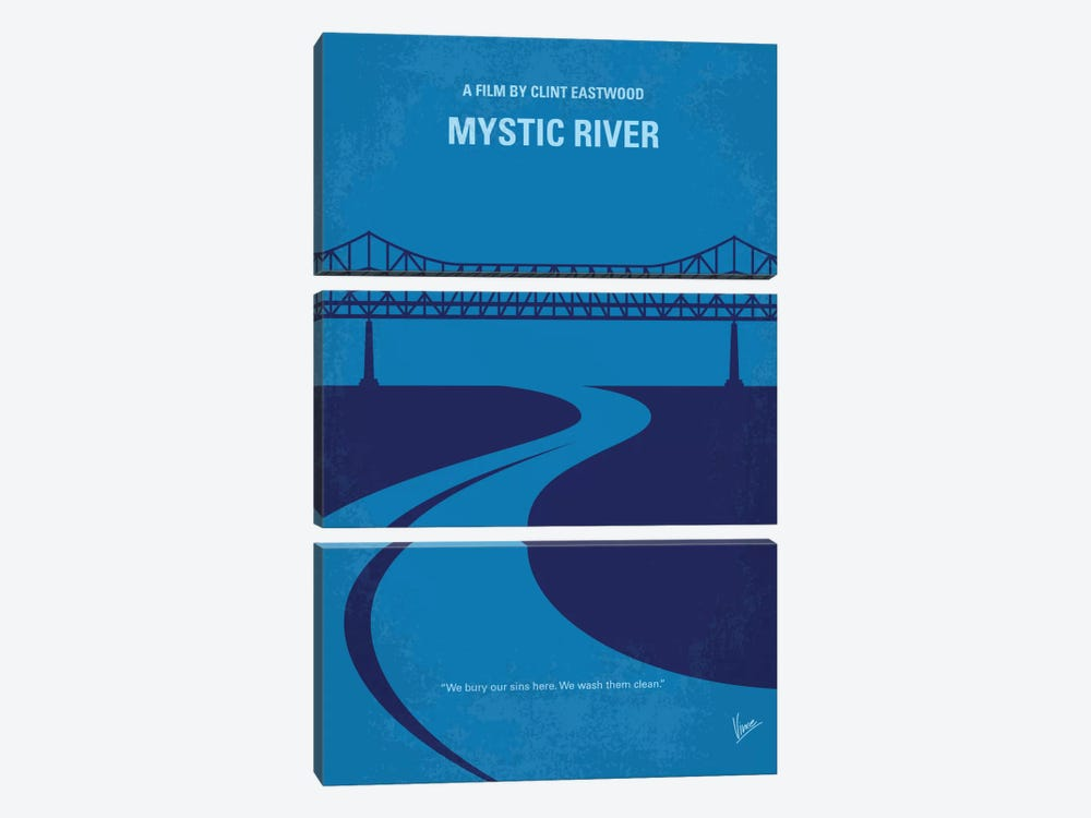 Mystic River Minimal Movie Poster by Chungkong 3-piece Canvas Art Print