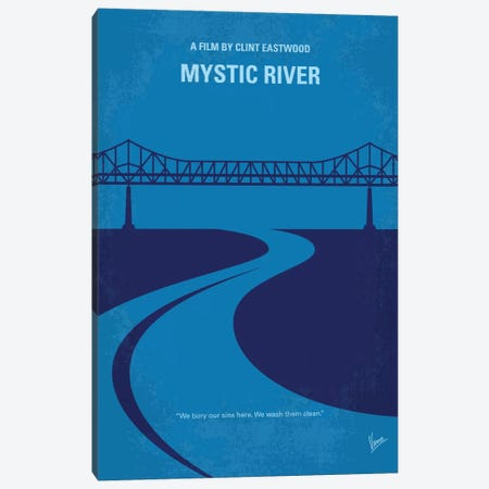 Mystic River Minimal Movie Poster Canvas Print #CKG736} by Chungkong Canvas Artwork