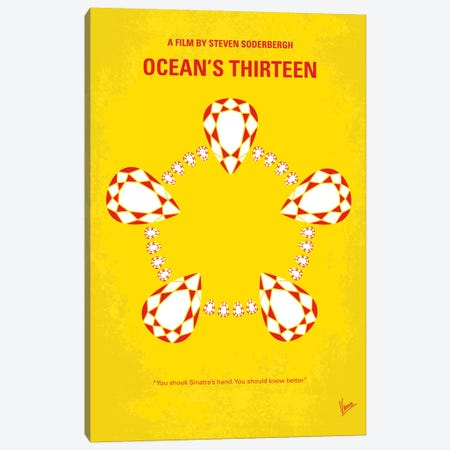 Ocean's Thirteen Minimal Movie Poster Canvas Print #CKG737} by Chungkong Canvas Art