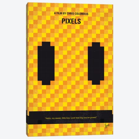Pixels Minimal Movie Poster Canvas Print #CKG738} by Chungkong Canvas Art Print