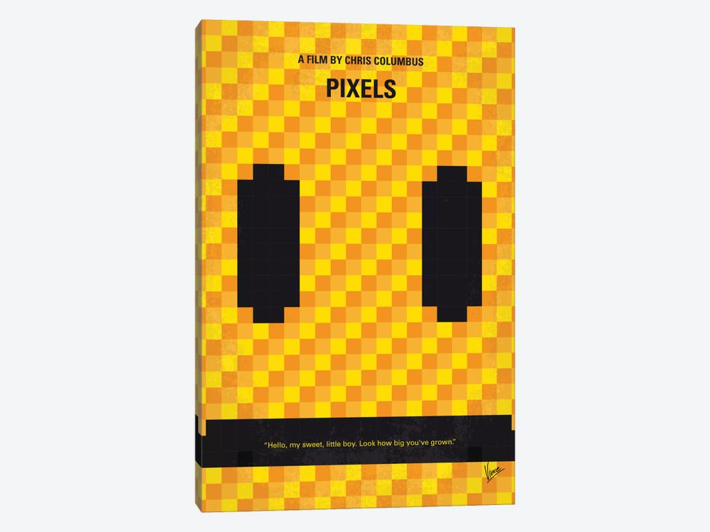 Pixels Minimal Movie Poster by Chungkong 1-piece Canvas Print