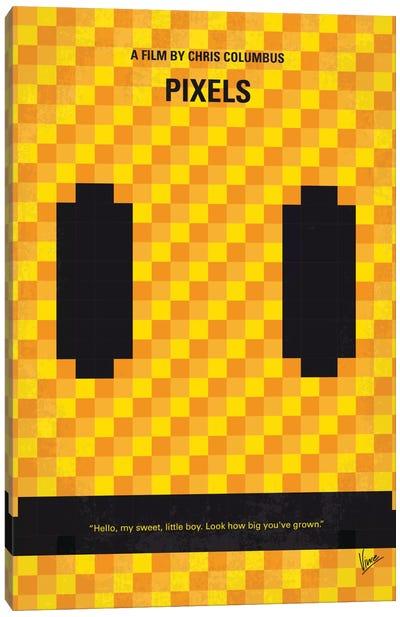 Pixels Minimal Movie Poster Canvas Art Print