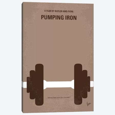 Pumping Iron Minimal Movie Poster Canvas Print #CKG739} by Chungkong Canvas Print