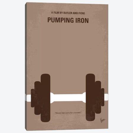 Pumping Iron Minimal Movie Poster Canvas Print #CKG739} by Chungkong Canvas Print