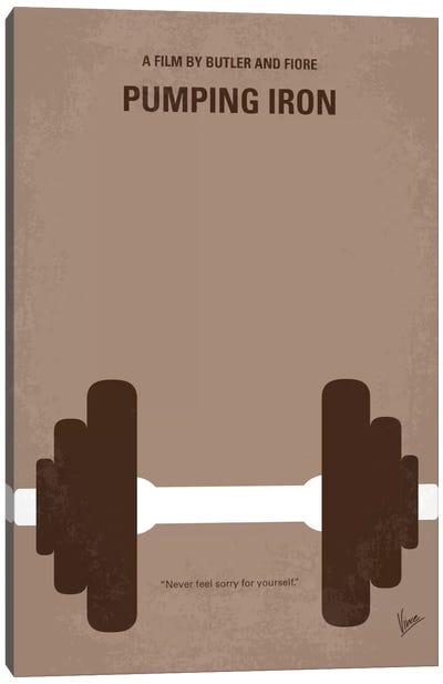 Pumping Iron Minimal Movie Poster Canvas Art Print