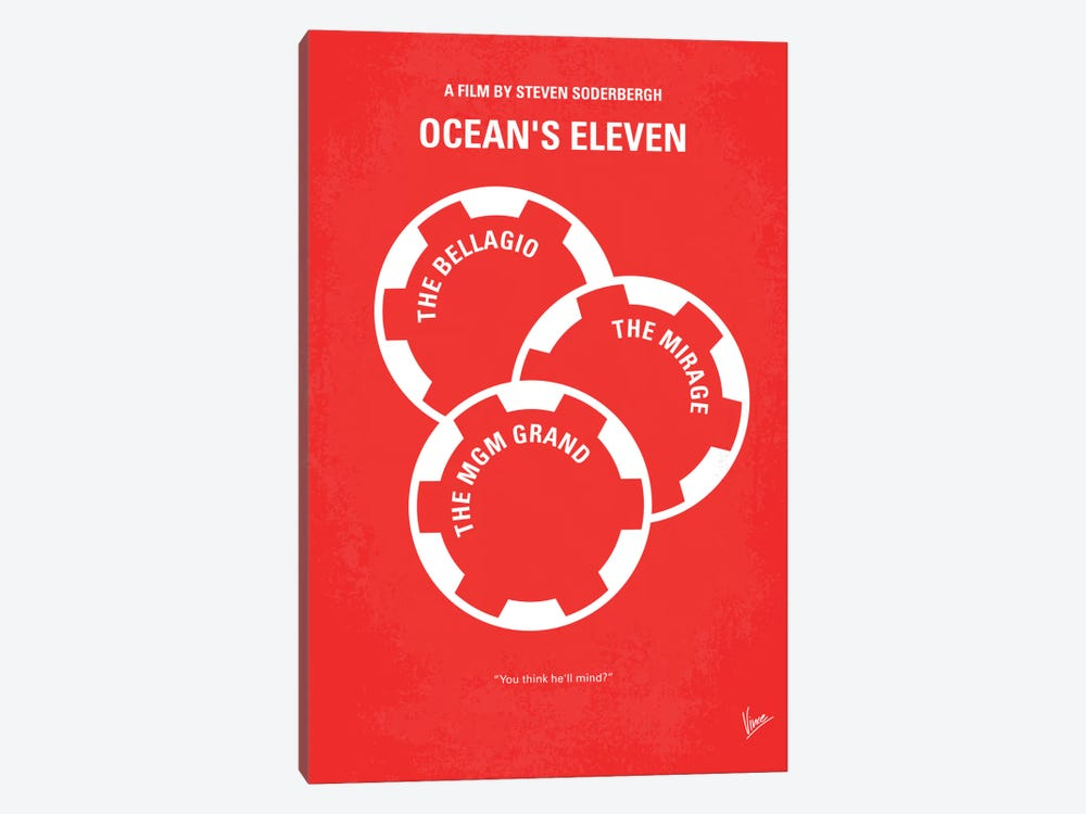 Ocean's Eleven Minimal Movie Poster by Chungkong 1-piece Art Print