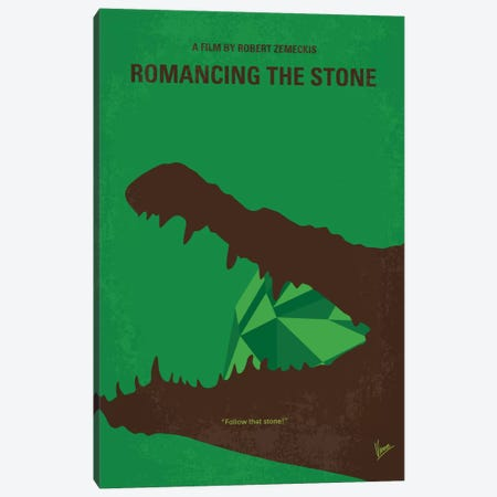 Romancing The Stone Minimal Movie Poster Canvas Print #CKG740} by Chungkong Canvas Artwork