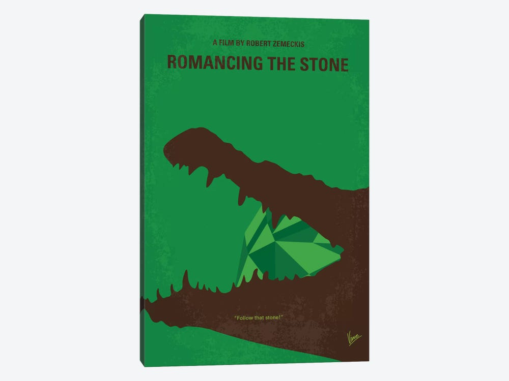 Romancing The Stone Minimal Movie Poster by Chungkong 1-piece Canvas Art