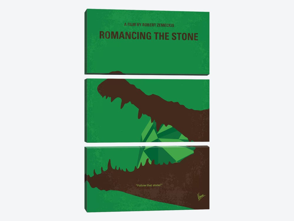 Romancing The Stone Minimal Movie Poster by Chungkong 3-piece Canvas Artwork