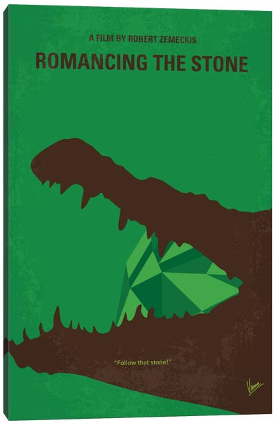 Romancing The Stone Minimal Movie Poster Canvas Art Print