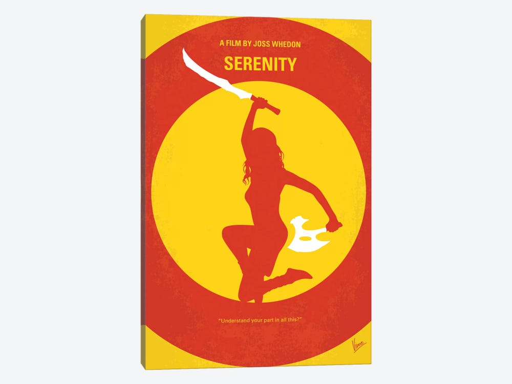 Serenity Minimal Movie Poster by Chungkong 1-piece Canvas Art
