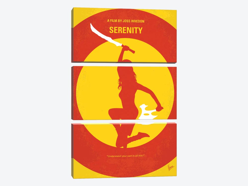 Serenity Minimal Movie Poster by Chungkong 3-piece Canvas Artwork